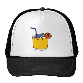 Funny Shark Swimming in Orange Juice Trucker Hat