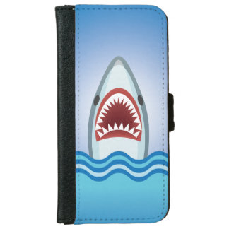 Funny Shark Wallet Phone Case For iPhone 6/6s