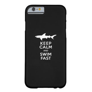Funny Shark Warning - Keep Calm and Swim Fast Barely There iPhone 6 Case