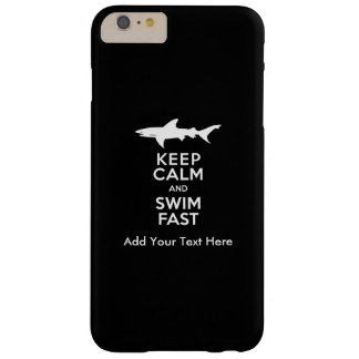 Funny Shark Warning - Keep Calm and Swim Fast Barely There iPhone 6 Plus Case