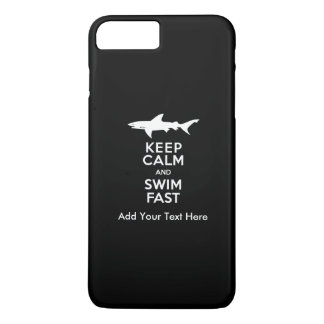 Funny Shark Warning - Keep Calm and Swim Fast iPhone 8 Plus/7 Plus Case