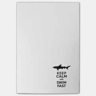 Funny Shark Warning - Keep Calm and Swim Fast Post-it Notes