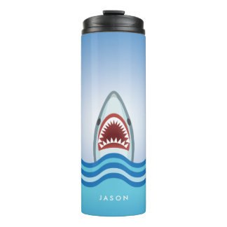 Funny Shark With Jaws Wide Open Thermal Tumbler