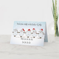 Funny Sheep Christmas  Deck the Halls Holiday Card
