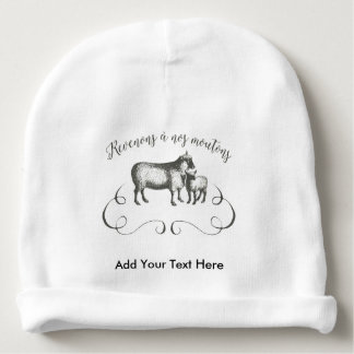 Funny Sheep Farm French Expression Vintage Style Baby Beanie