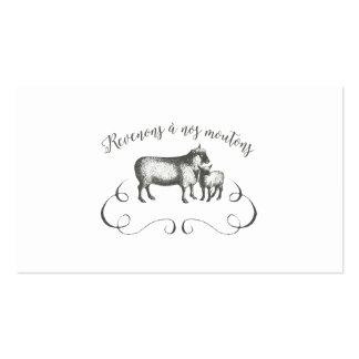 Funny Sheep Farm French Expression Vintage Style Business Card