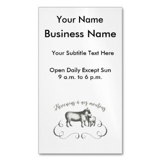 Funny Sheep Farm French Expression Vintage Style Magnetic Business Card