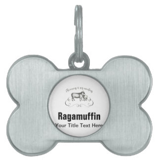 Funny Sheep Farm French Expression Vintage Style Pet Name Tag