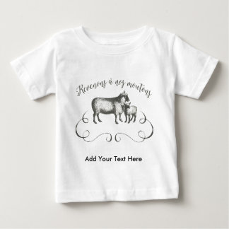 Funny Sheep Farm French Expression Vintage Style Tee Shirt