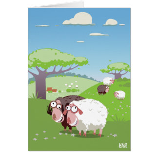 Funny Sheep Greeting Card