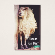 funny sheep hairstylist hair stylist cosmetologist business card