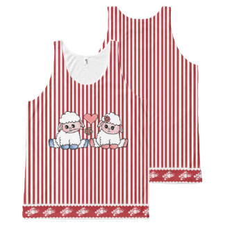 funny sheep All-Over print tank top