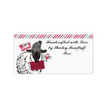 Funny sheep knitting needles yarn gift for ewe label
