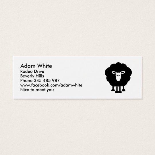 Funny sheep mini business card