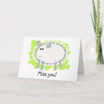 Funny Sheep on Green Card
