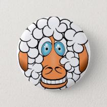 Funny Sheep Pinback Button