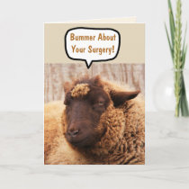 Funny Sheep Surgery Card