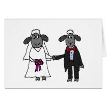 Funny Sheep Wedding Cartoon