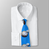Funny Sheep Year Chinese Zodiac Blue Tie