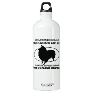 Funny shetland sheepdog designs SIGG traveler 1.0L water bottle