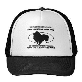 Funny shetland sheepdog designs trucker hat