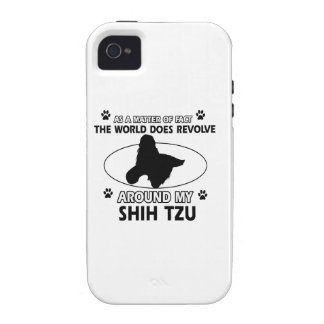 Funny shih tzu designs vibe iPhone 4 cases