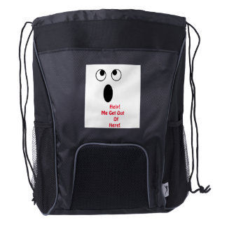 Funny Shocked Face Backpack