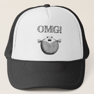 Funny Shocked Silly Fish Trucker Hat