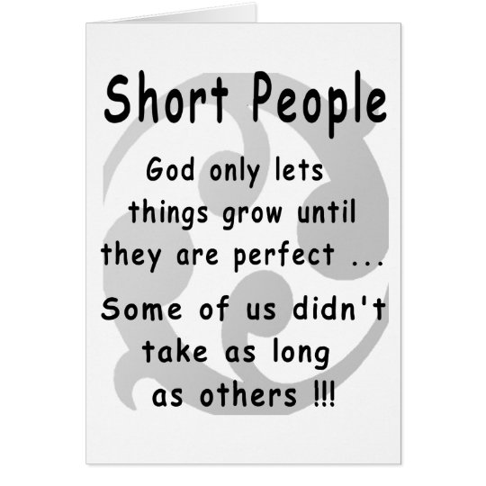 Funny Short People Revenge. Card