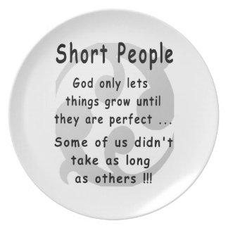 Funny Short People Revenge. Dinner Plate