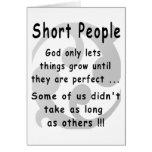 Funny Short People Revenge. Greeting Cards