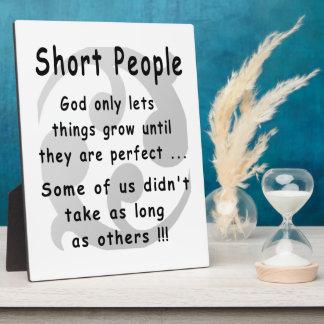 Funny Short People Revenge. Plaque