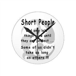 Funny Short People Revenge. Round Clock