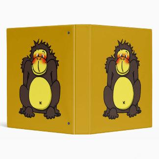 Funny shy gorilla binder