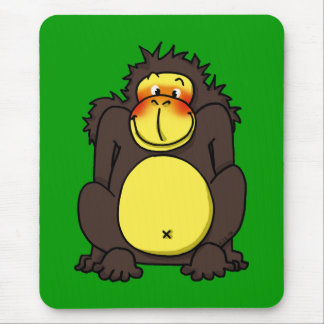 Funny shy gorilla mouse pad