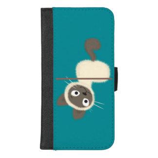 Funny Siamese Kitten upside down iPhone 8/7 Plus Wallet Case