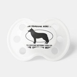 Funny Siberian Husky designs Pacifier