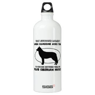 Funny Siberian Husky designs Water Bottle