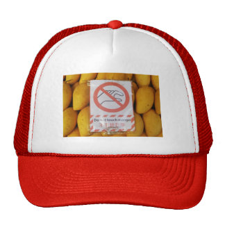 Funny Sign Do not touch mango Mesh Hat