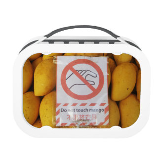 Funny Sign 'Do not touch mango' Lunch Box