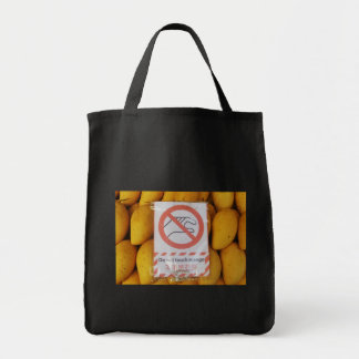 Funny Sign 'Do not touch mango' Tote Bag