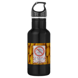Funny Sign 'Do not touch mango' Water Bottle
