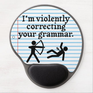 "Funny ""Silently Correcting Your Grammar"" Spoof Gel Mousepad"