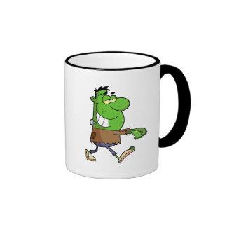 funny silly cartoon frankenstein for halloween coffee mug