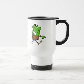 funny silly cartoon frankenstein for halloween mugs