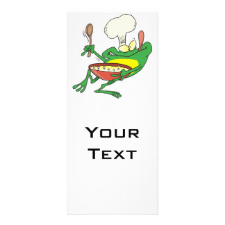funny silly cooking chef frog cartoon rack card