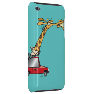 funny silly giraffe in a car commuting Case-Mate iPod touch case