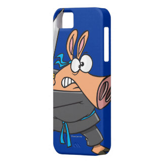 funny silly ninja karate pig piggy cartoon iPhone SE/5/5s case