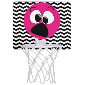 Funny Silly Pink Face Chevron Mini Basketball Hoop