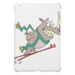 funny silly ski jump rhino cartoon case for the iPad mini